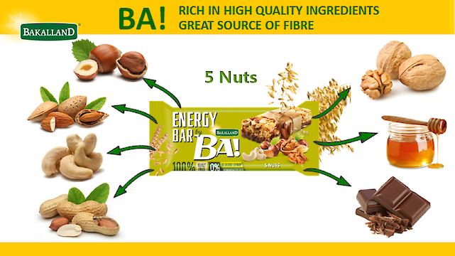 Product image of Bakalland Energy Nut bar  with 5 nuts and milk chocolate by Bakalland