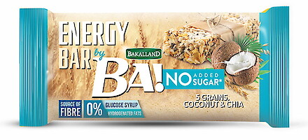 Product image of Bakalland Healthy Snack Bar - No Added Sugar: Coconut & Chia by Bakalland