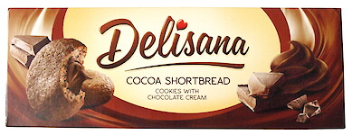 Product image of Cocoa Shortbread Cookies with chocolate cream by Delisana