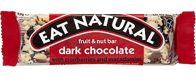 Product image of Dark Chocolate with Cranberries & Macadamia by Eat Natural