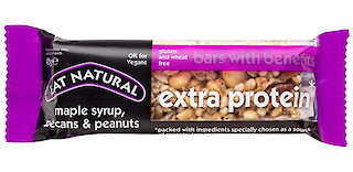 Product image of Extra Protein Bar with Maple Syrup, Pecans & Peanuts by Eat Natural