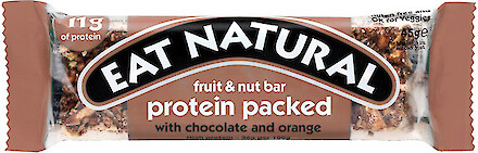 Product image of Protein Packed Fruit & Nut Bar with Chocolate & Orange by Eat Natural