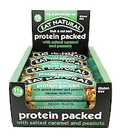 Product image of Protein Packed Fruit & Nut Bar with Salted Caramel & Peanuts by Eat Natural