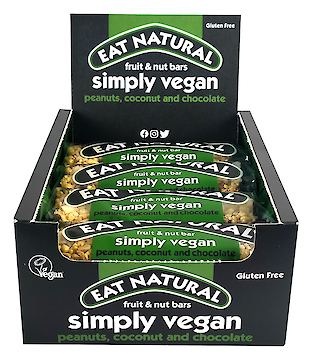 Product image of Simply Vegan - peanuts, coconut and chocolate by Eat Natural