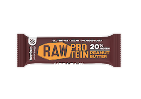 Product image of Raw Protein peanut butter bar by Bombus
