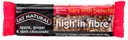 Product image of High in fibre with apple, ginger & dark chocolate by Eat Natural