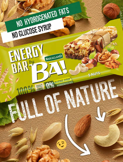 Bakalland BA! Energy Bars - Full of nature